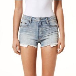 Aritzia Talula Highwaisted Denim Jean Shorts